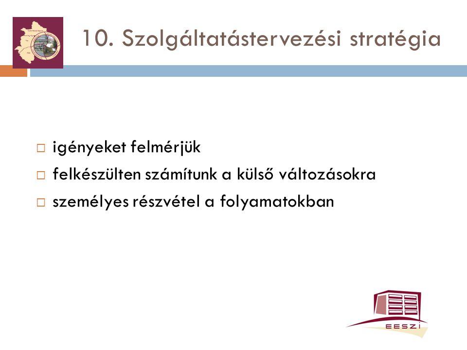 10. Szolgáltatástervezési stratégia