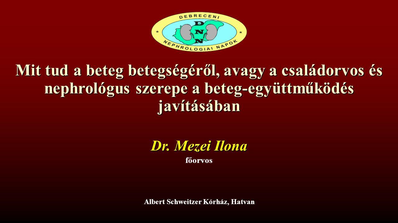 Albert Schweitzer Kórház, Hatvan