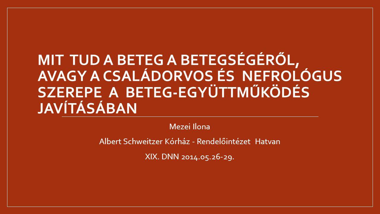 Albert Schweitzer Kórház - Rendelőintézet Hatvan
