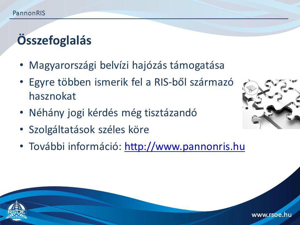 Összefoglalás Magyarországi belvízi hajózás támogatása