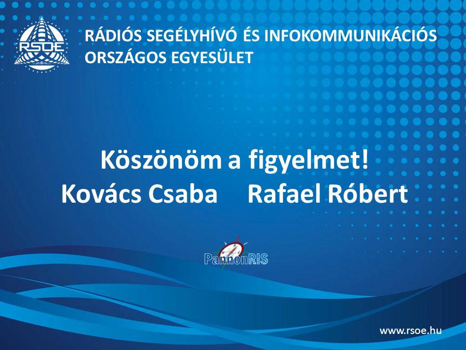 Köszönöm a figyelmet! Kovács Csaba Rafael Róbert