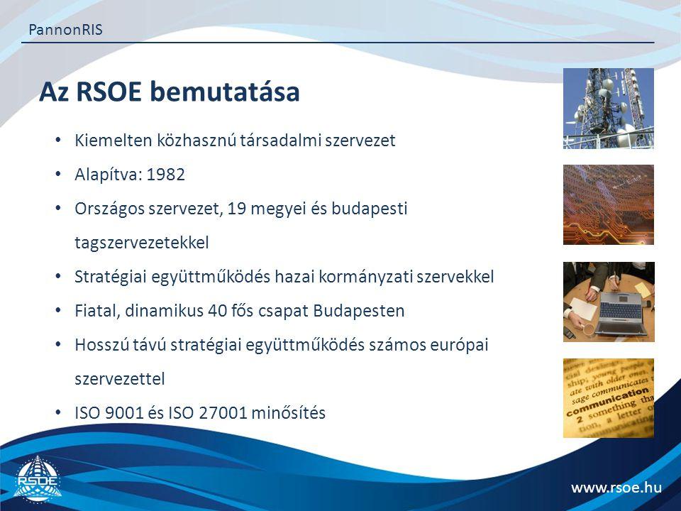 Az RSOE bemutatása Kiemelten közhasznú társadalmi szervezet