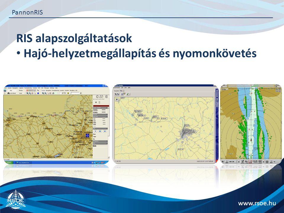 RIS alapszolgáltatások Hajó-helyzetmegállapítás és nyomonkövetés
