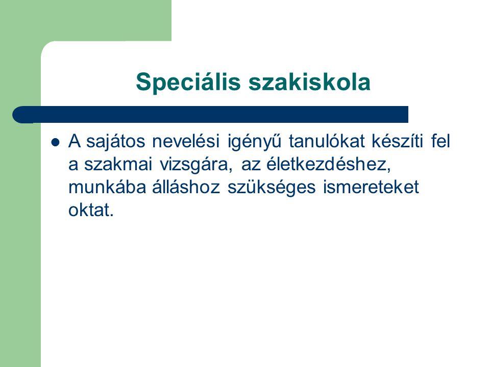 Speciális szakiskola