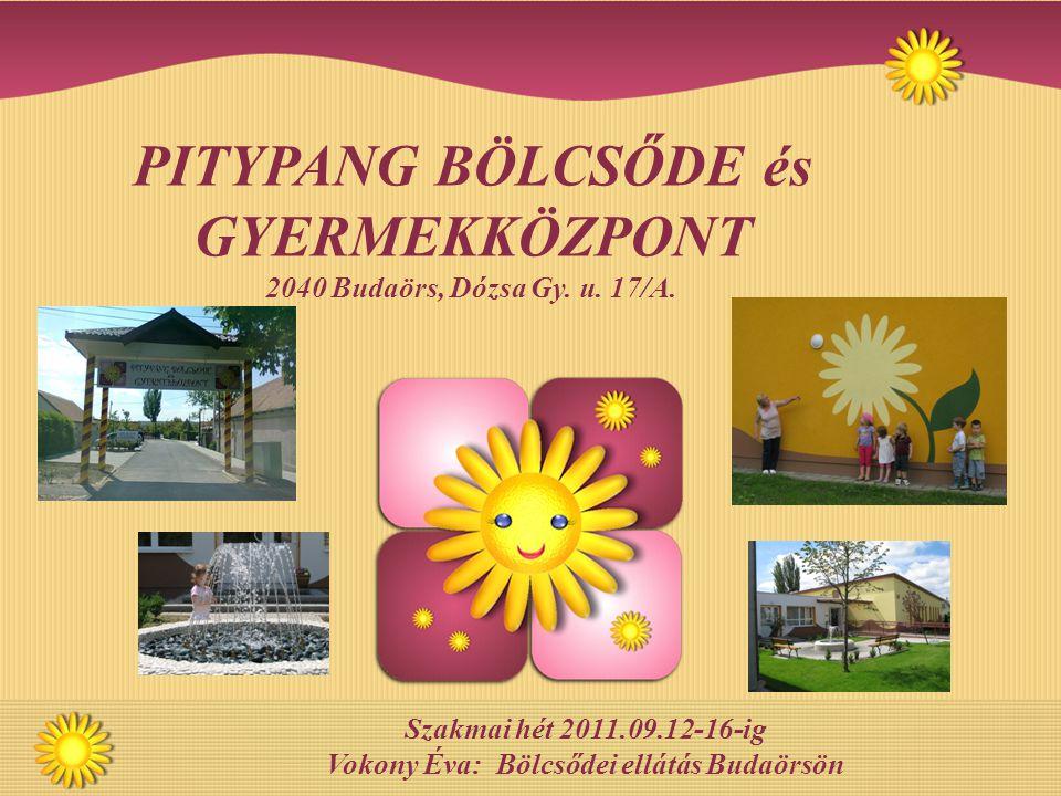 Szakmai hét 2011.09.12-16-ig Vokony Éva: Bölcsődei ellátás Budaörsön