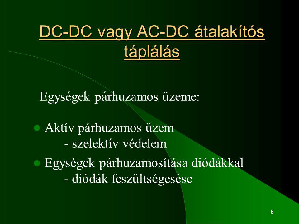DC-DC vagy AC-DC átalakítós táplálás