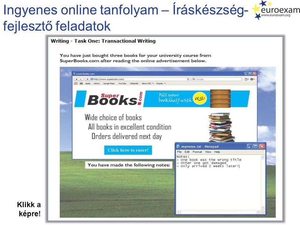 Ingyenes online tanfolyam – Íráskészség- fejlesztő feladatok
