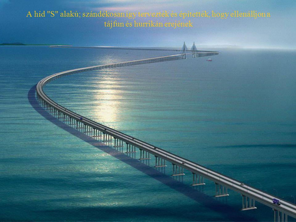 A híd S alakú; szándékosan így tervezték és építették, hogy ellenálljon a tájfun és hurrikán erejének