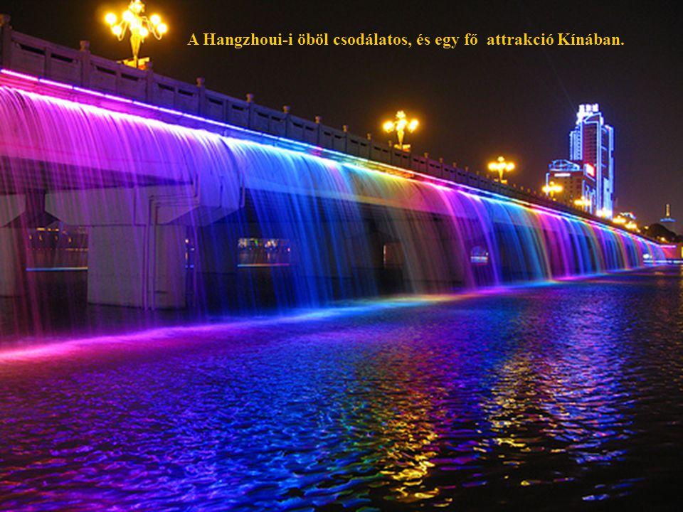 A Hangzhoui-i öböl csodálatos, és egy fő attrakció Kínában.