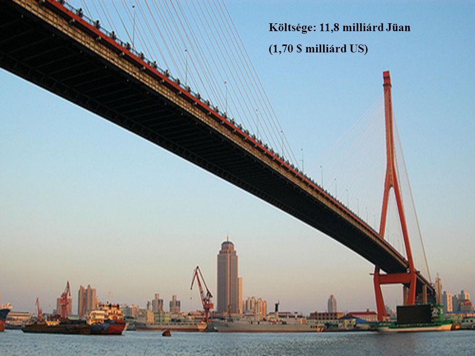 Költsége: 11,8 milliárd Jüan