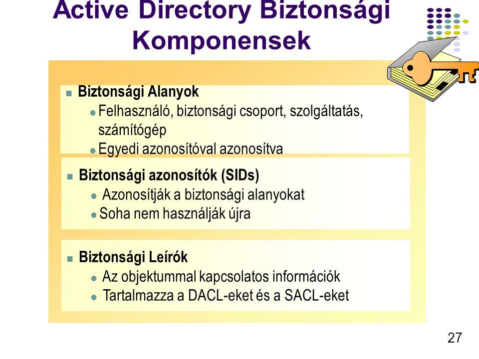 Active Directory Biztonsági Komponensek