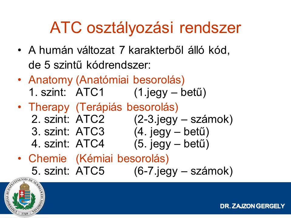ATC osztályozási rendszer