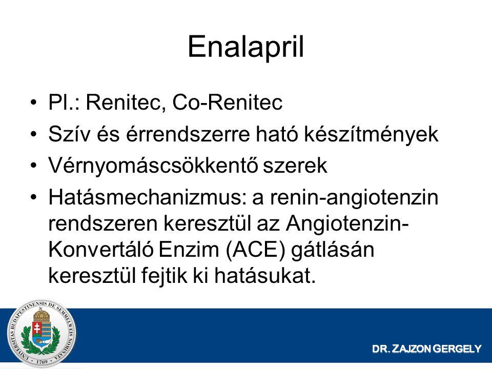 Enalapril Pl.: Renitec, Co-Renitec