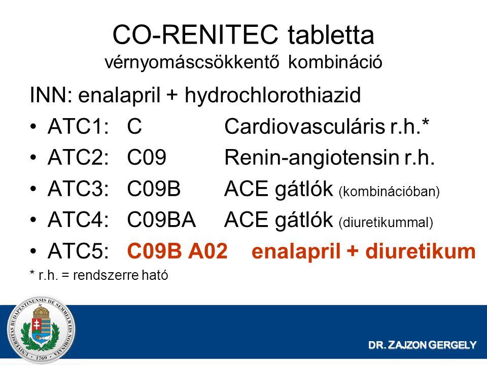 CO-RENITEC tabletta vérnyomáscsökkentő kombináció