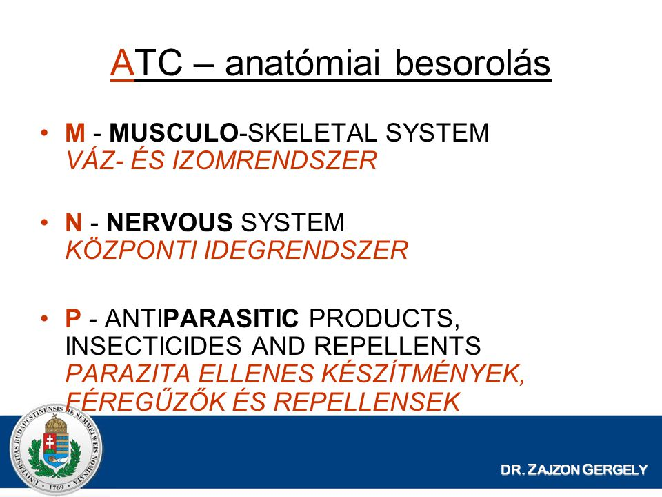 ATC – anatómiai besorolás