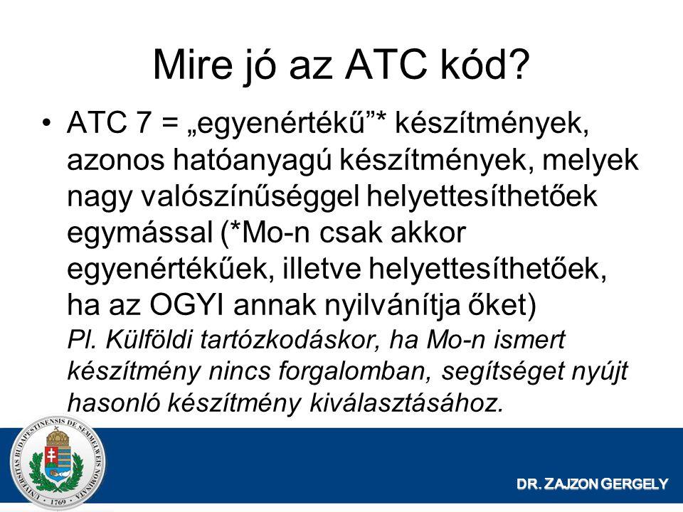 Mire jó az ATC kód