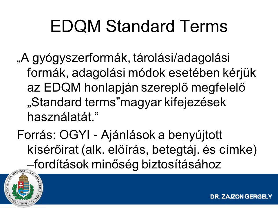 EDQM Standard Terms