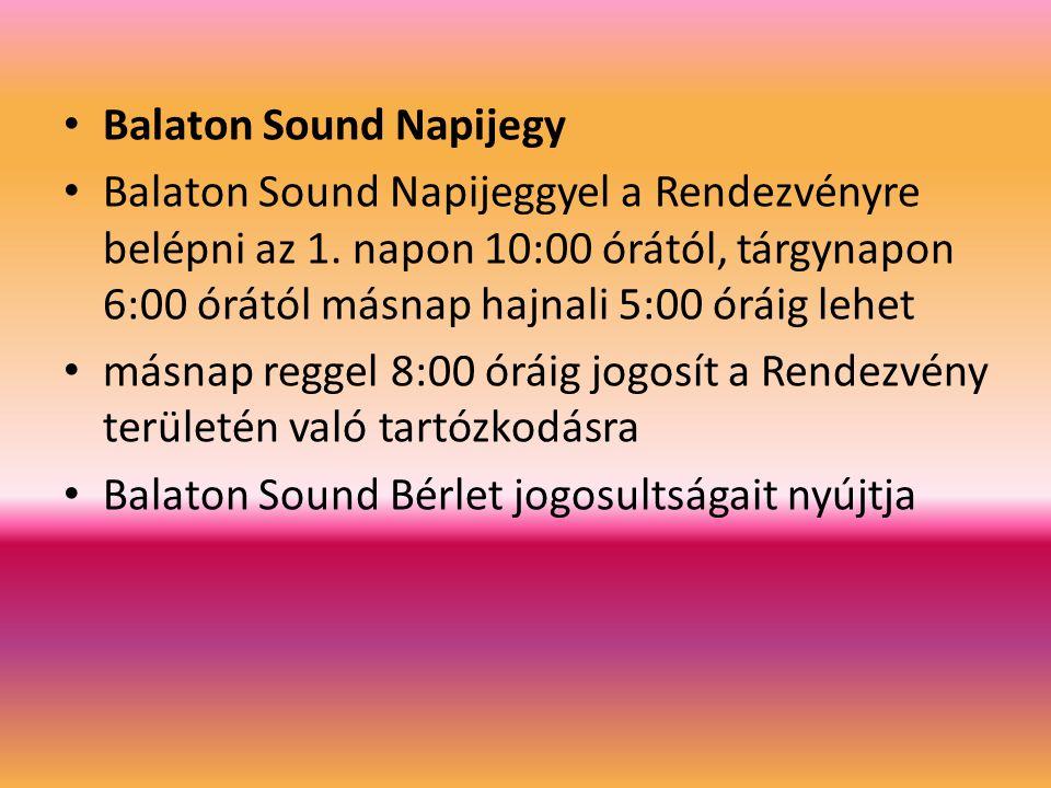 Balaton Sound Napijegy