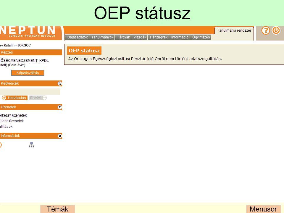 OEP státusz