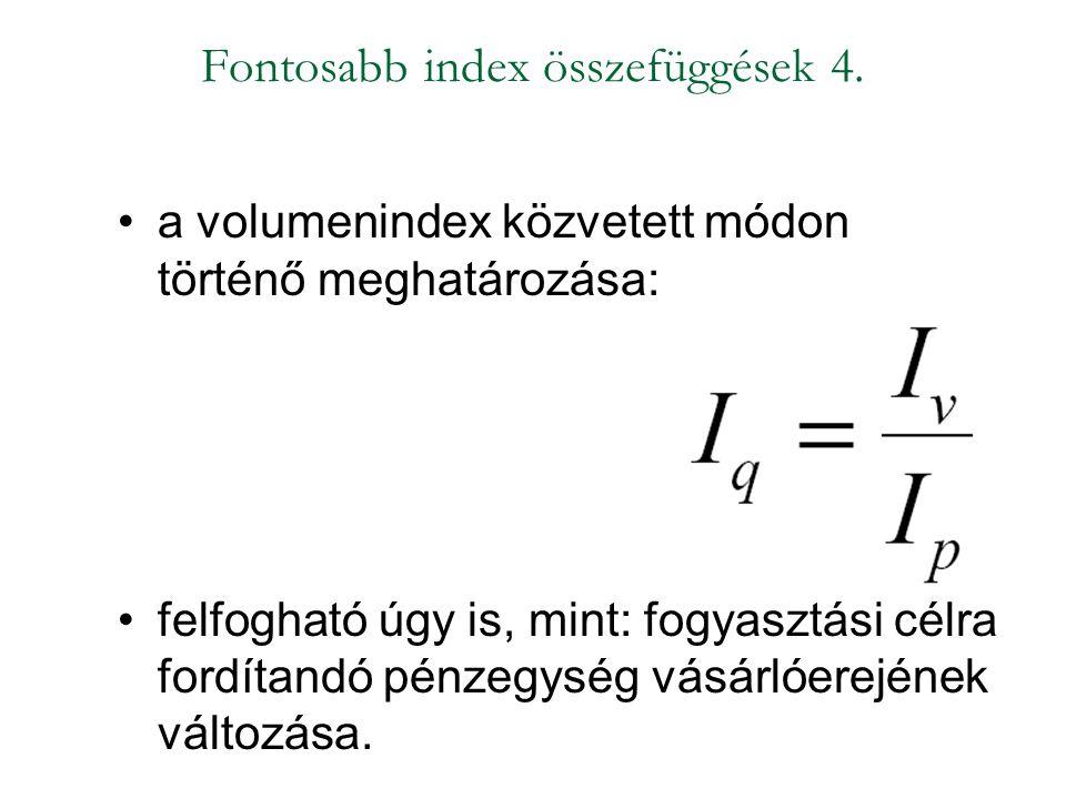Fontosabb index összefüggések 4.