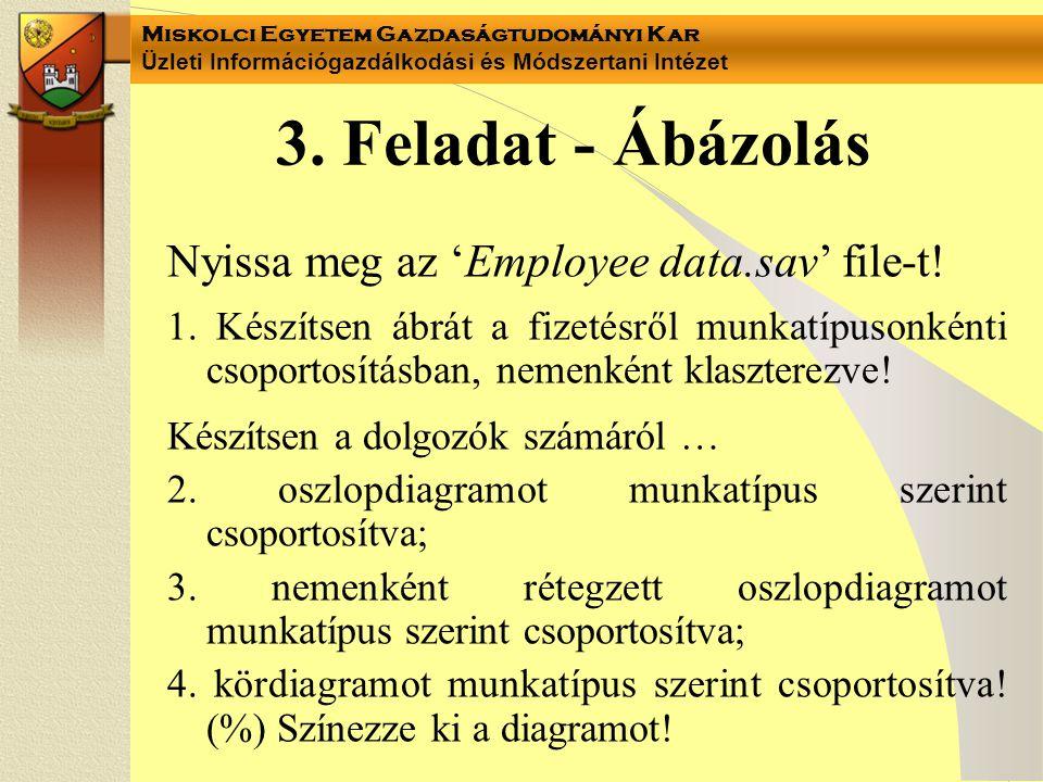 3. Feladat - Ábázolás Nyissa meg az 'Employee data.sav' file-t!