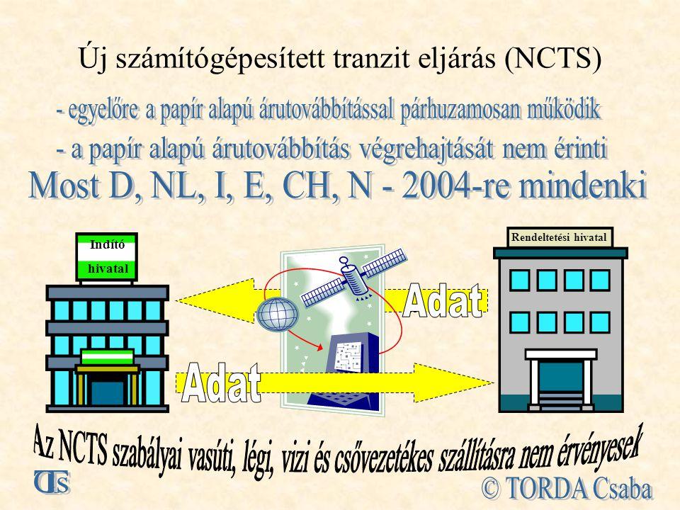Új számítógépesített tranzit eljárás (NCTS)