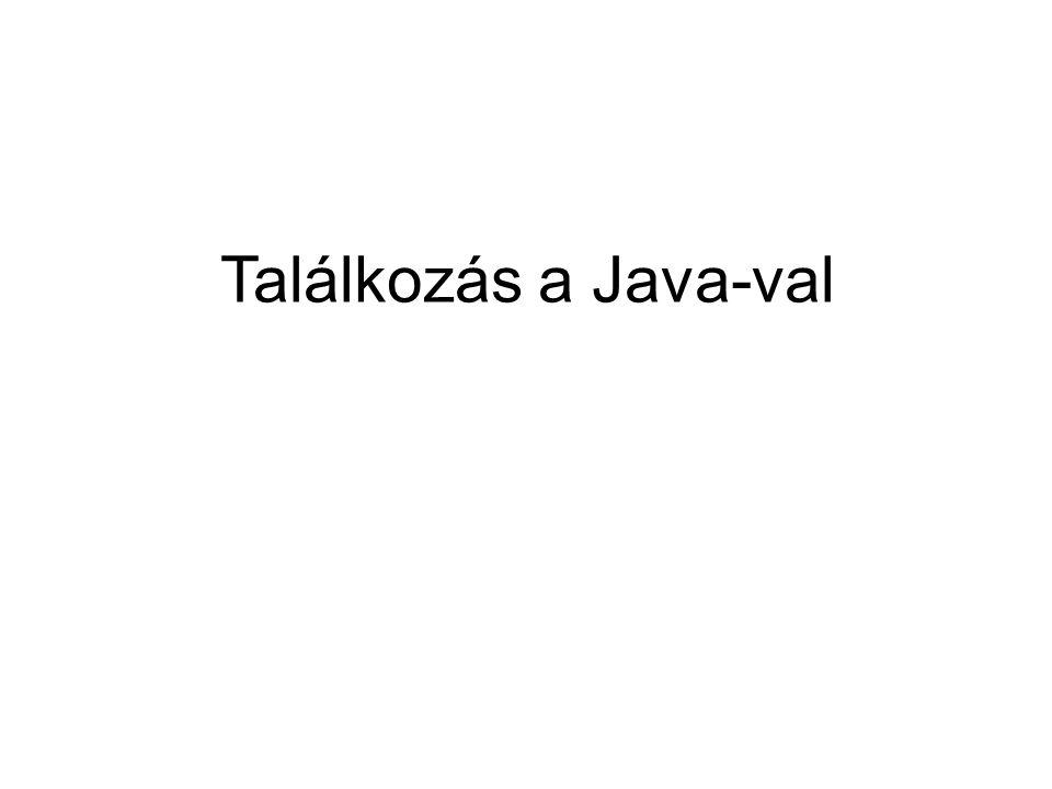Találkozás a Java-val