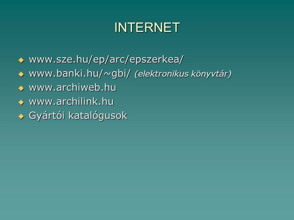 INTERNET www.sze.hu/ep/arc/epszerkea/