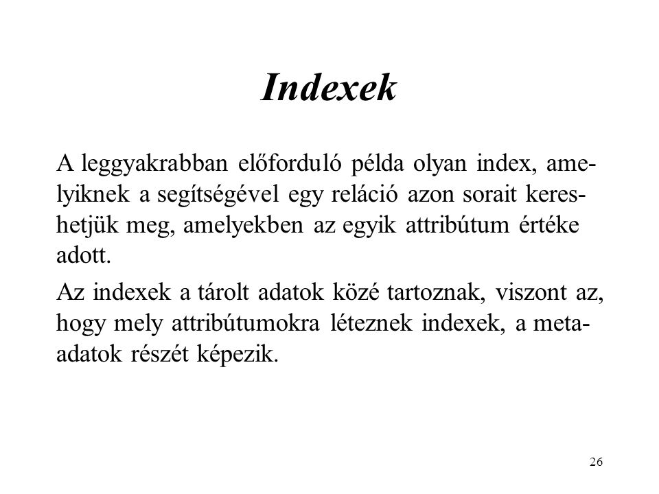 Indexek