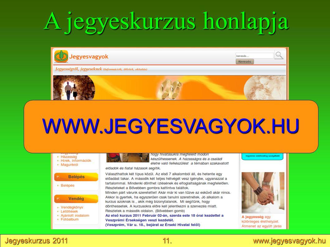 A jegyeskurzus honlapja