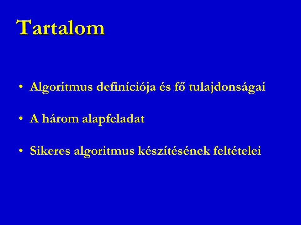 Tartalom Algoritmus definíciója és fő tulajdonságai