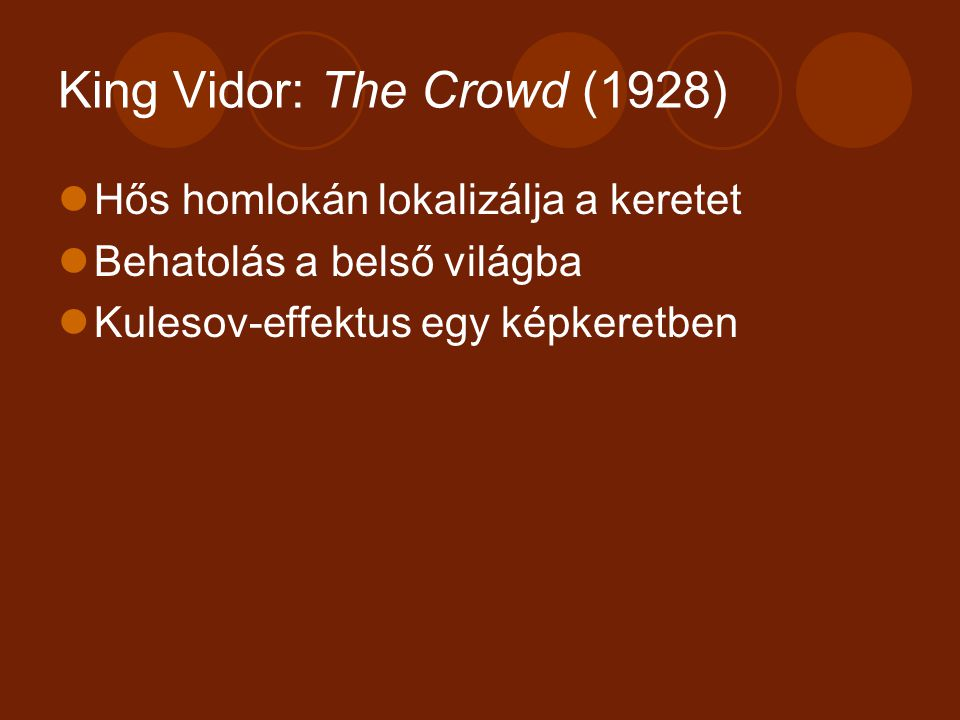 King Vidor: The Crowd (1928)