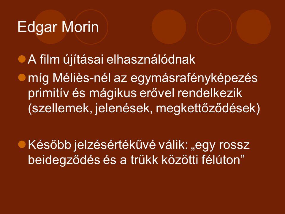 Edgar Morin A film újításai elhasználódnak