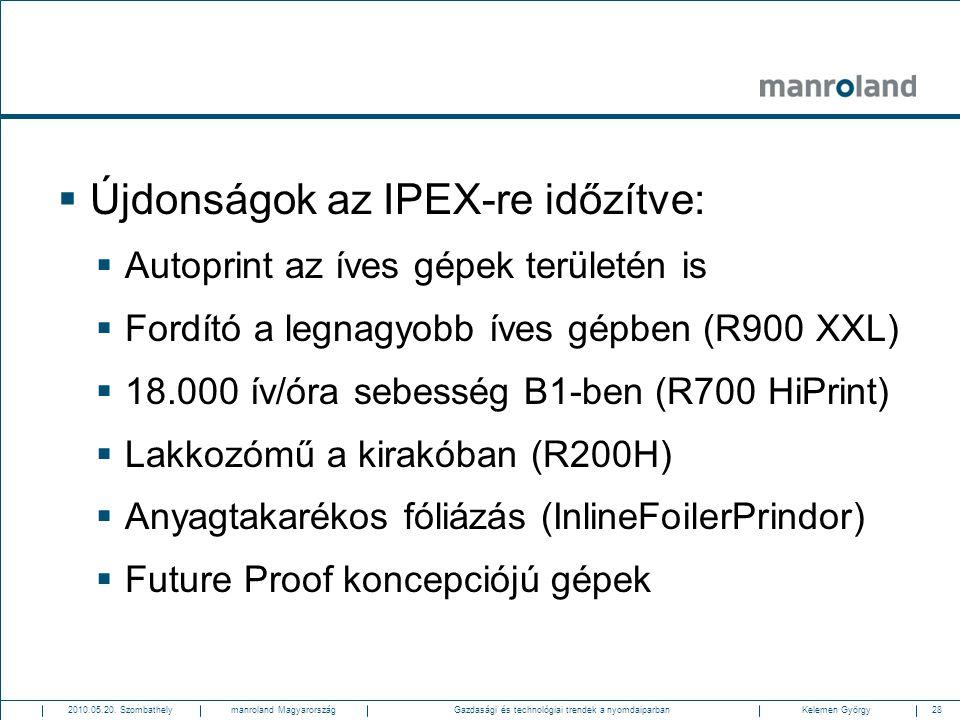 Újdonságok az IPEX-re időzítve: