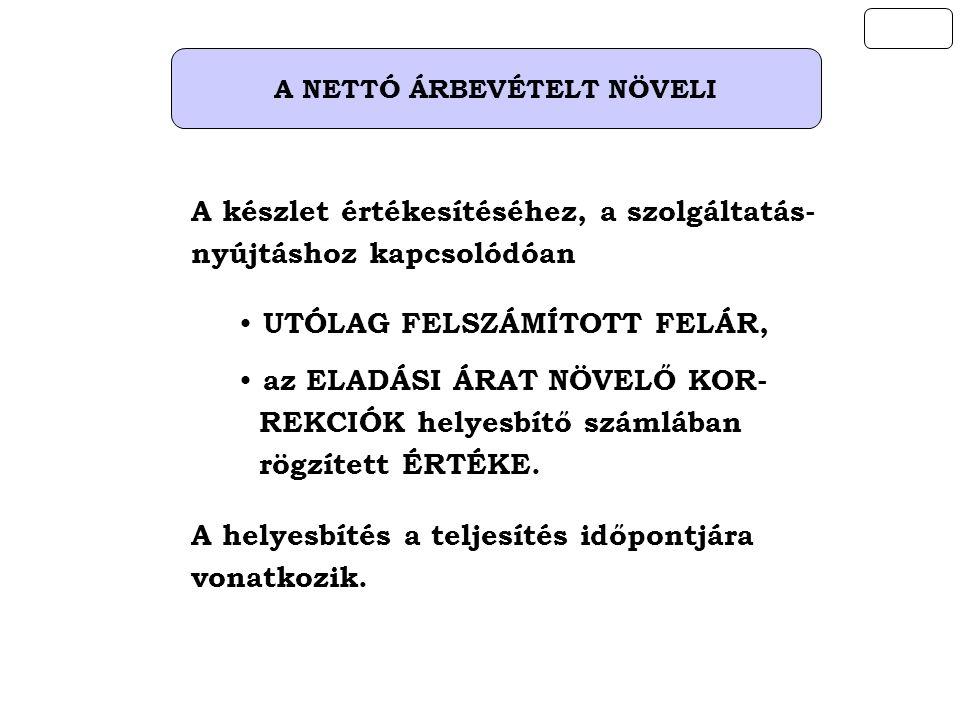 A NETTÓ ÁRBEVÉTELT NÖVELI