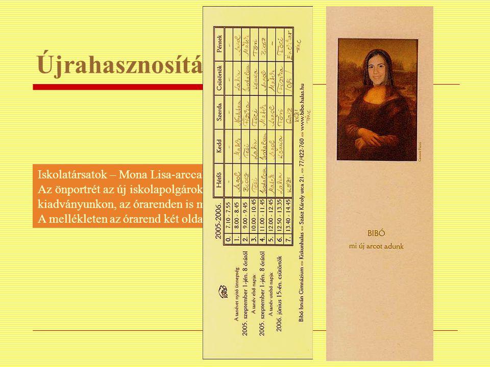 Újrahasznosítás Iskolatársatok – Mona Lisa-arccal.