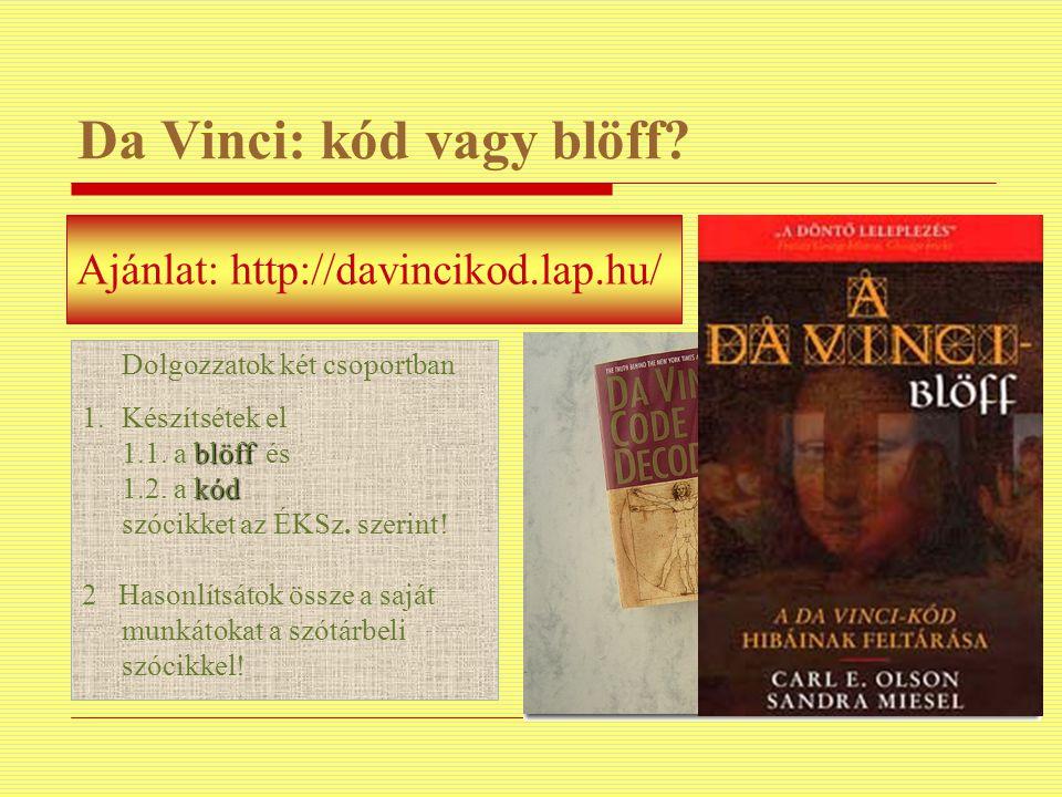 Da Vinci: kód vagy blöff