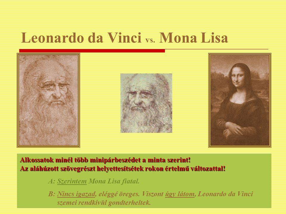 Leonardo da Vinci vs. Mona Lisa
