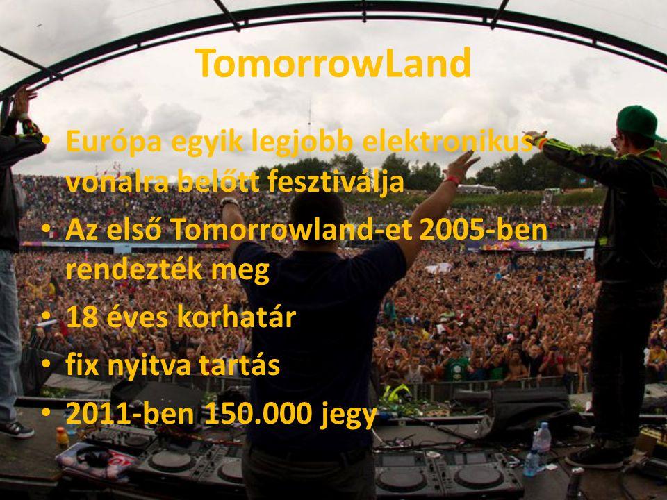TomorrowLand Európa egyik legjobb elektronikus vonalra belőtt fesztiválja. Az első Tomorrowland-et 2005-ben rendezték meg.