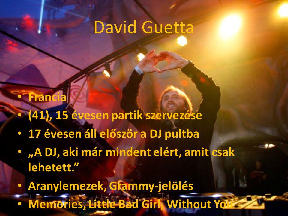 David Guetta Francia (41), 15 évesen partik szervezése