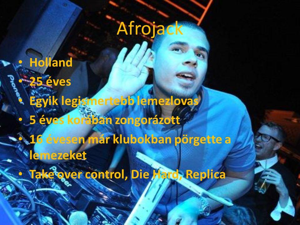 Afrojack Holland 25 éves Egyik legismertebb lemezlovas