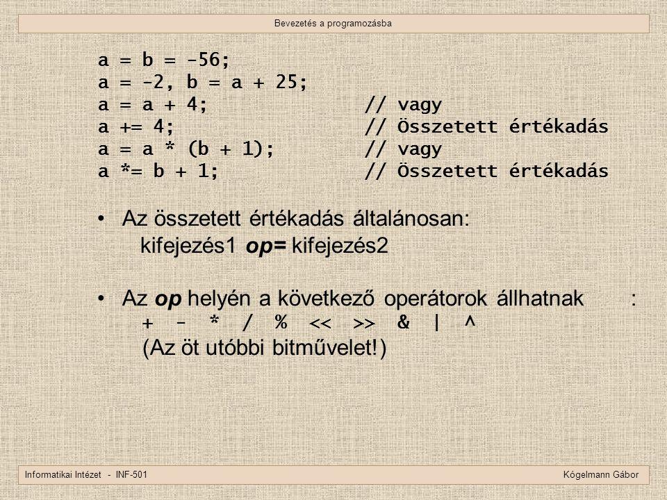 Bevezetés a programozásba