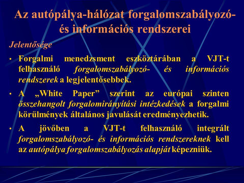 Az autópálya-hálózat forgalomszabályozó- és információs rendszerei