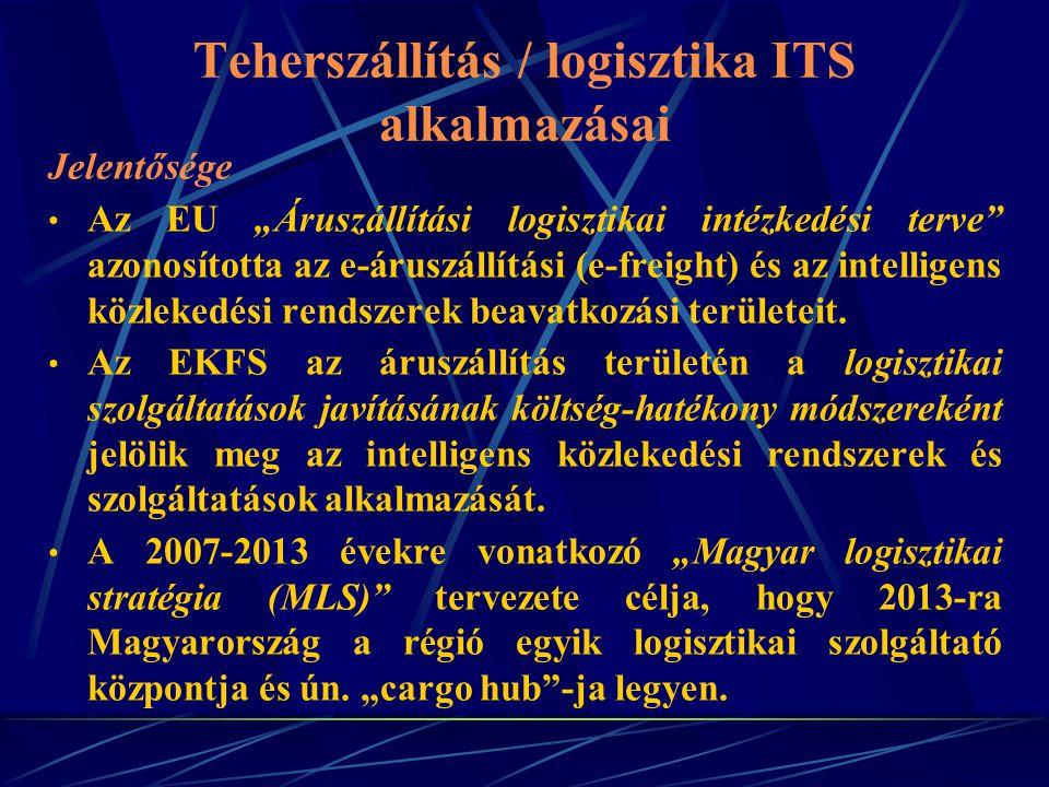 Teherszállítás / logisztika ITS alkalmazásai