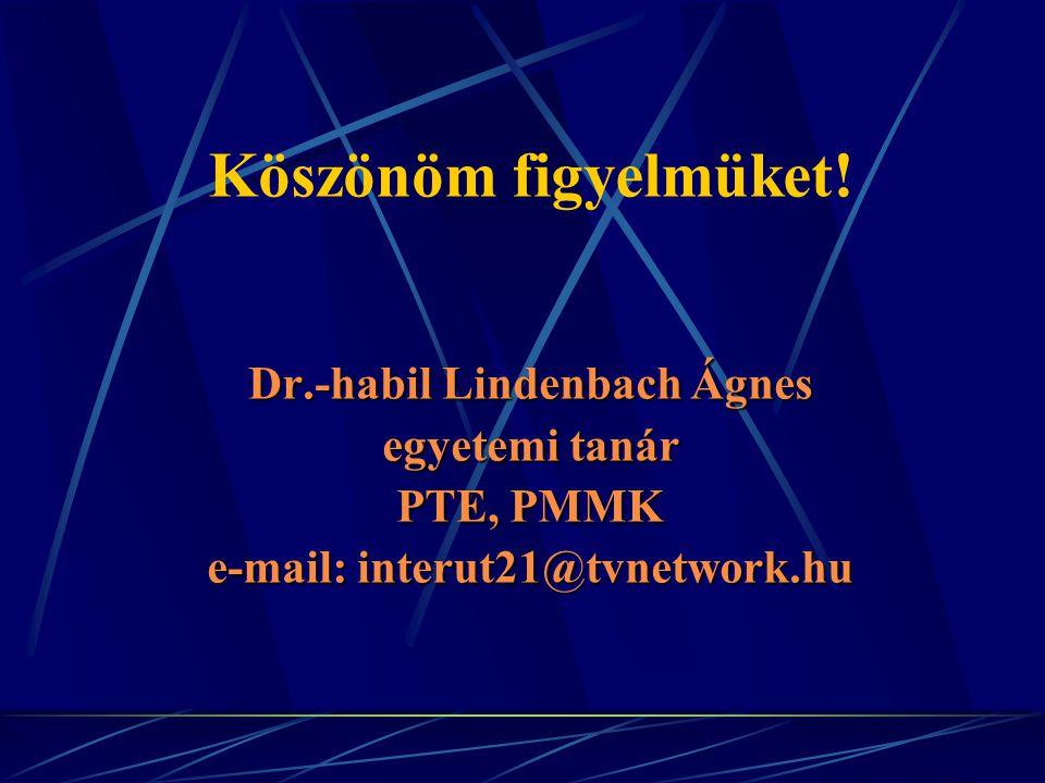 Dr.-habil Lindenbach Ágnes e-mail: interut21@tvnetwork.hu