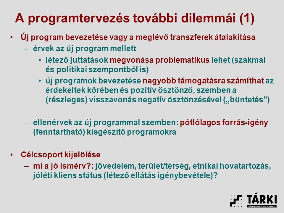 A programtervezés további dilemmái (1)
