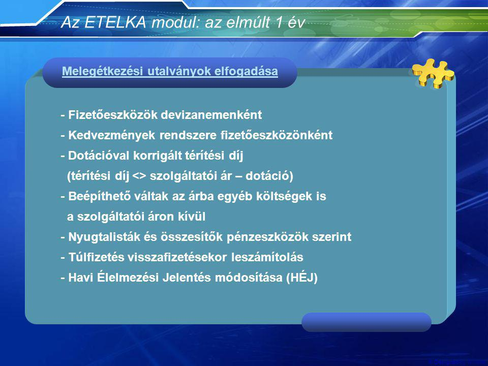 Az ETELKA modul: az elmúlt 1 év
