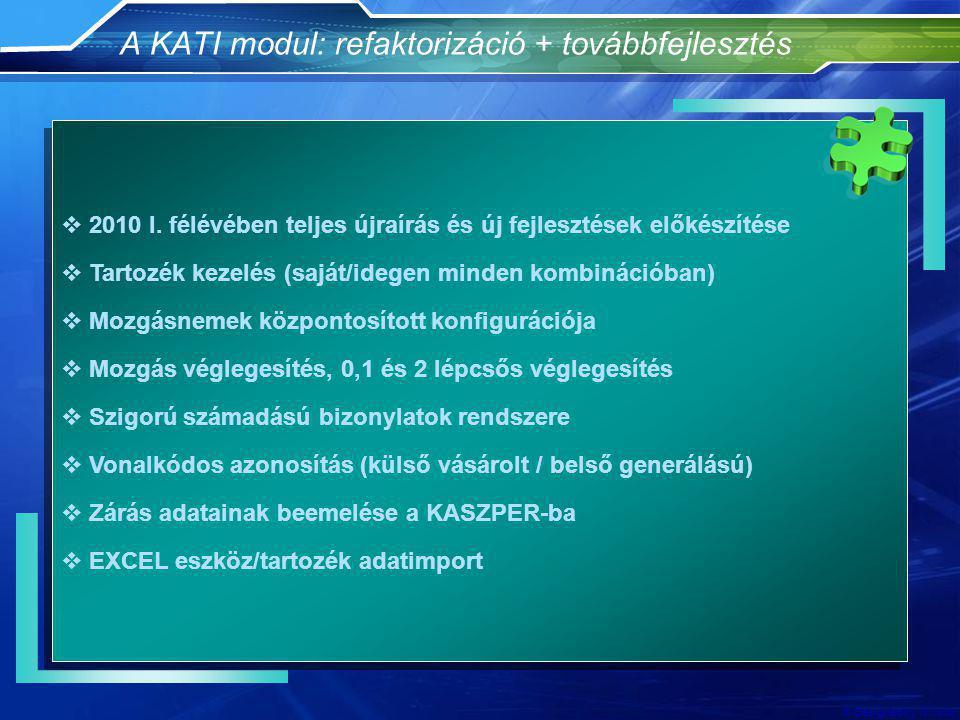 A KATI modul: refaktorizáció + továbbfejlesztés
