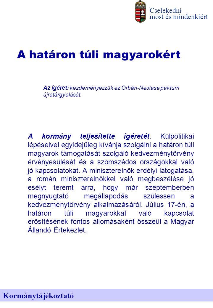 A határon túli magyarokért