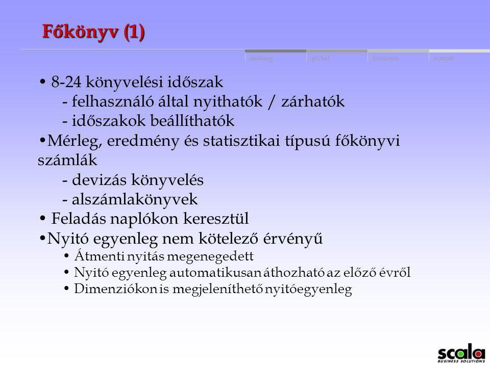 Főkönyv (1) 8-24 könyvelési időszak